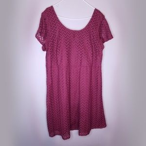Maurice's plus size burgundy dress